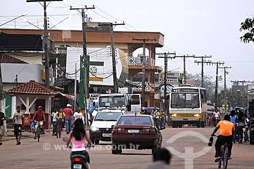 Assunto: Transito na Av. Dionisio Bentes / Local: Quatro Bocas, Tome-Acu - Pará - Brasil / Data: 01-04-2009
