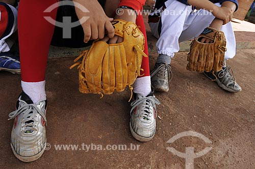 Assunto: Time de baseball da Escola Nikkei de Tome-Acu / Local: Quatro Bocas, Tome-Acu - Pará - Brasil / Data: 01-04-2009