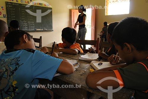 Escola rural  do território quilombola de Santa Maria do Traquateua  - Moju - Pará - Brasil