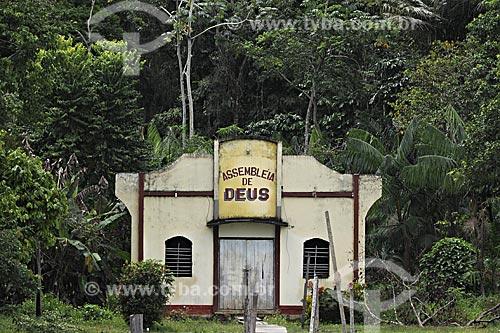 Assunto: Igreja da Assembléia de Deus na Baía do Guajará / Local: próximo a Belém - Pará - Brasil / Data: 05-05-2009