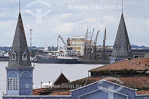 Assunto: Mercado de Peixes no Ver o Peso visto do Forte do Presépio mostrando o porto ao fundo / Local: Belém - Pará - Brasil / Data: 05-05-2009