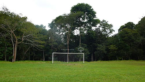 Assunto: Trave em campo de futebol na Amazonia/ Local: Barcarena - Para - Brasil / Data: 04-04-2009