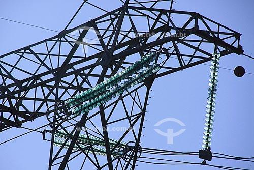 Assunto: Rede de energia elétrica da usina nuclear de Angra / Local: Angra dos Reis - Rio de Janeiro - Brasil / Data: Maio de 2009