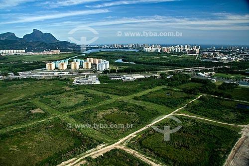 Assunto: Vista aérea da Vila Pan-americana, ou Vila do Pan, na Barra da Tijuca / Local: Rio de Janeiro - RJ - Brasil / Data: Outubro de 2009