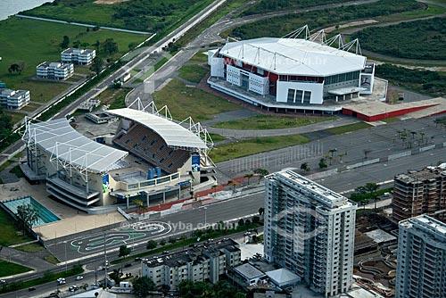Assunto: Vista aérea do Parque Aquático Maria Lenk e HSBC Arena na Barra da Tijuca / Local: Rio de Janeiro - RJ - Brasil / Data: Outubro de 2009