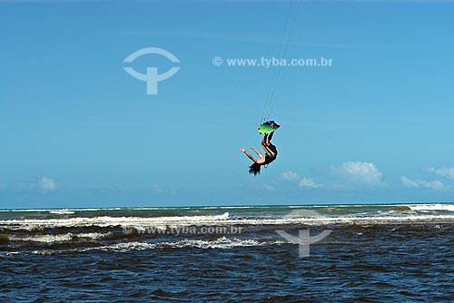 Assunto: Treino de Kite surf na foz do rio Caraíva / Local: Caraíva - Bahia (BA) - Brasil / Data: Julho de 2008