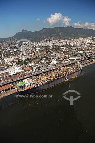 Assunto: Vista aérea do Porto do Rio de Janeiro / Local: Rio de Janeiro - RJ - Brasil / Data: Março de 2005