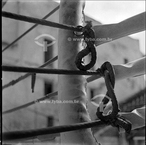 Assunto: Detalhe do ringue da escola de boxe