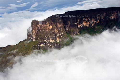 Assunto: Vista aérea do Tepui Roraima (Monte Roraima)  / Local:  Extremo norte de Roraima - Fronteira com a Venezuela e a Guiana - Roraima - Brasil  / Data: Janeiro de 2006