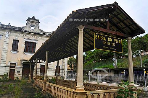 Assunto: Estação Ferroviária Pedro II inaugurada em 7 de agosto de 1864 com a presença do imperador D. Pedro II, século 19/ Local: Barra do Piraí - Vale do Paraíba - Rio de Janeiro - RJ / Data: 11-2009