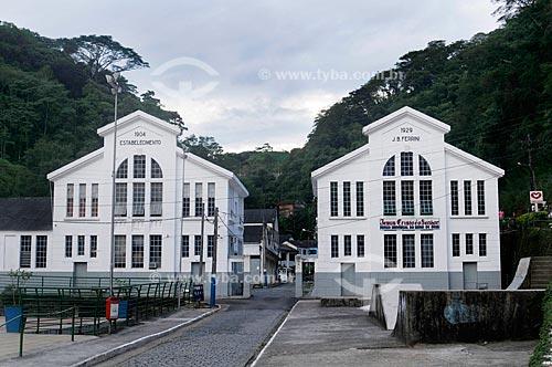 Fábrica de guarda-chuvas Ferrini, se estabeleceu em 1904 e chegou a ter 700 funcionários, alguns deles aprendiam inglês e alemão para poderem operar as máquinas industriais  - Engenheiro Paulo de Frontin - Rio de Janeiro - Brasil
