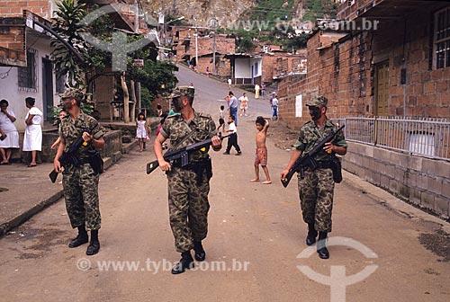 Assunto: Ocupação das Comunas (Favelas) de Medelín pelo Exército / Local: Medelín - Colômbia / Data: 2000