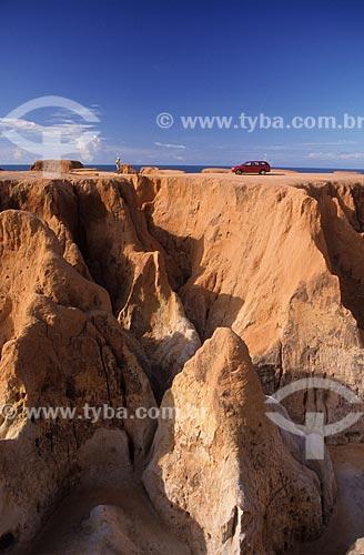 Assunto: Labirinto de Falésias na praia de Morro Branco / Local: Beberibe - Ceará (CE)