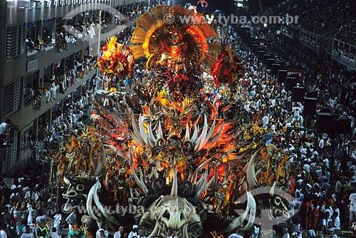 Assunto: Desfile de Carnaval no Sambódromo da Marquês de Sapucaí / Local: Rio de Janeiro (RJ) - Brasil / Data: 30/01/04