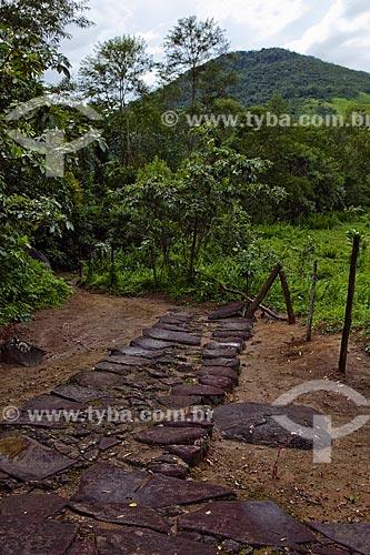 Assunto: Caminho do Ouro com pavimentação de pedra conhecida como
