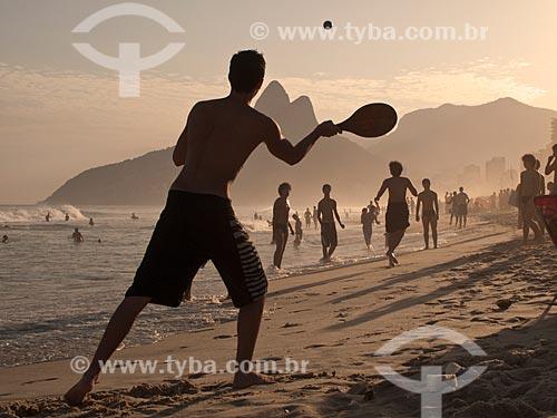 Assunto: Frescobol na praia de Ipanema / Local: Rio de Janeiro - Rio de Janeiro - Brasil / Data: 05/01/2010