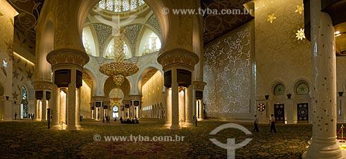 Assunto: Grande Mesquita de Abu Dhabi - Mesquita Sheik Zayed Bin Sultan Al Nathyan  / Local:  Abu Dabi - Emirados Árabes Unidos  / Data: 01/2009