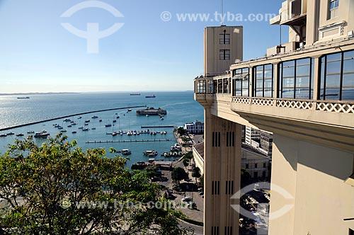 Assunto: Elevador Lacerda e Forte do Mar ou São Marcelo  / Local:  Salvador - Bahia (BA) - Brasil  / Data: 2009