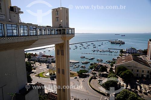 Assunto: Elevador Lacerda, Mercado Modelo e Forte do Mar ou São Marcelo  / Local:  Salvador - Bahia (BA) - Brazil  / Data: 2009