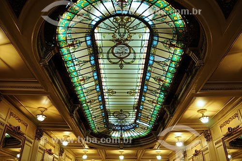 Assunto: Interior da Confeitaria Colombo (1894) - Estilo Art Nouveau  / Local:  Travessa do Ouvidor - Centro - Rio de Janeiro - RJ  / Data: Agosto de 2009