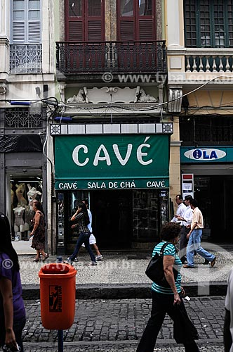 Assunto: Casa Cavé, confeitaria tradicional do Centro do Rio de Janeiro  - Rua Uruguaiana / Local:  Rio de Janeiro  / Data: Agosto 2009