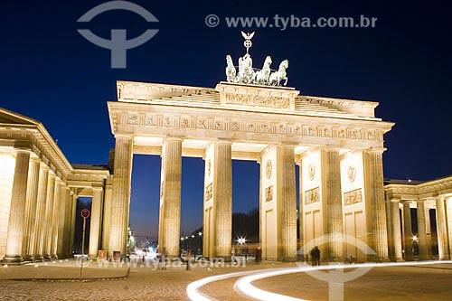 Assunto: Portão de Brandenburgo (Brandenburger Tor)  / Local:  Berlim - Alemanha  / Data: 11/01/2009
