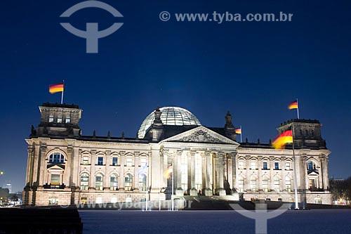 Assunto: Reichstag, sede do Parlamento Federal Alemão (Bundenstag)  / Local:  Berlim - Alemanha  / Data: 12/01/2009