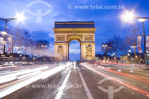 Assunto: Arc de Triomphe (Arco do Triunfo)  / Local:  Paris - França  / Data: 28/01/2009