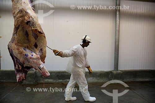 Assunto: Frigorífico com carnes para exportação  / Local:  Mato Grosso (MT) - Brasil  / Data: Abril de 2009