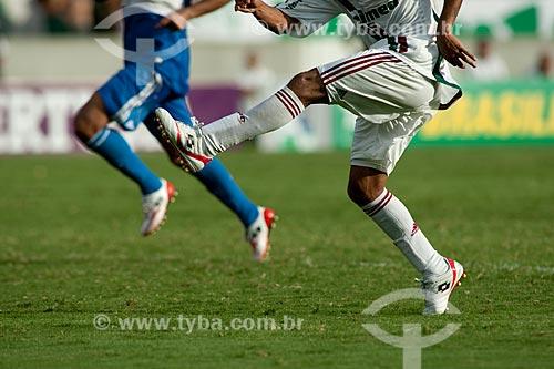 Assunto: Jogadores no Estádio Mário Filho durante o jogo Fluminense x Palmeiras /  Local: Maracanã - Rio de Janeiro - RJ - Brasil /  Data: 08/11/2009