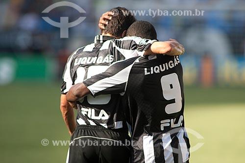 Assunto: Jogadores do Botafogo no gramado no jogo Botafogo x São Paulo / Local: Engenhão ( Estádio Olímpico João Havelange ) - Rio de Janeiro / Data: 22/11/2009