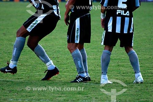 Assunto: Jogadores do Botafogo no gramado no Engenhão ( Estádio Olímpico João Havelange ) durante o jogo Botafogo x São Paulo / Local: Engenho de Dentro - Rio de Janeiro - RJ - Brasil / Data: 22/11/2009