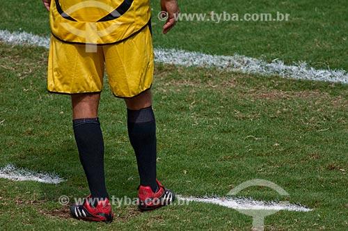 Assunto: Jogador no gramado  / Local: Maracanã - RJ / Data: 06/12/2009