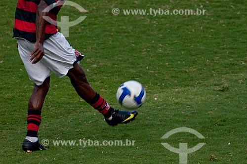 Assunto: Jogador do Flamengo no Maracanã (Estádio Mário Filho) durante o jogo final do Campeonato Brasileiro de 2009 Grêmio x Flamengo / Local: Maracanã - Rio de Janeiro - RJ - Brasil / Data: 06/12/2009