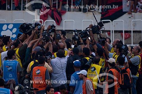 Assunto: Imprensa no Maracanã (Estádio Mário Filho) durante o jogo final do Campeonato Brasileiro de 2009 Grêmio x Flamengo / Local: Maracanã - Rio de Janeiro - RJ - Brasil / Data: 06/12/2009