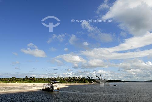 Assunto: Balsa de passeios turísticos na Barra de Cunhaú  / Local:  Canguaretama - Rio Grande do Norte (RN) - Brasil  / Data: 06/2009
