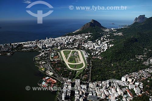 Assunto: Vista aérea da Lagoa Rodrigo de Freitas, do Hipódromo da Gávea e do Jardim Botânico / Local: Rio de Janeiro - RJ - Brasil / Data: 11/2009