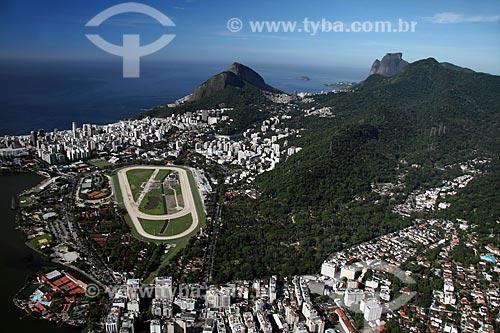 Assunto: Vista aérea do Hipódromo da Gávea e do Jardim Botânico / Local: Rio de Janeiro - RJ - Brasil / Data: 11/2009