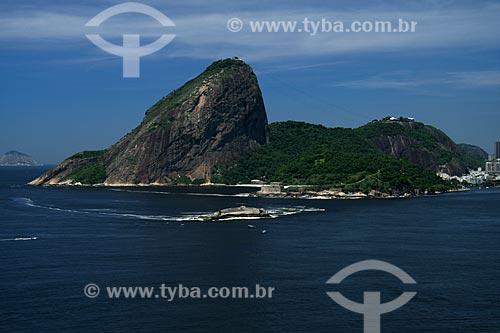 Assunto: Vista aérea do Forte Tamandaré da Laje e do Forte São João, com o Pão de Açúcar ao fundo / Local: Rio de Janeiro - RJ - Brasil / Data: 11/2009