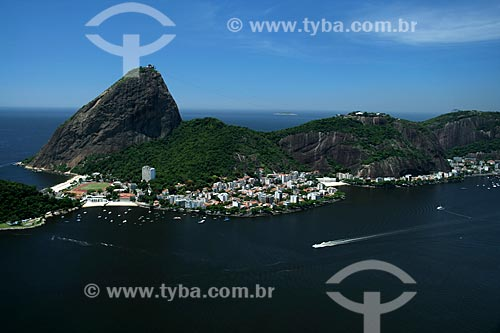 Assunto: Vista aérea do bairro da Urca, no sopé do Pão de Açúcar / Local: Rio de Janeiro - RJ - Brasil / Data: 11/2009