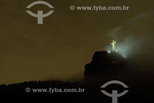 Assunto: Vista do Cristo Redentor na Casa de Santa Teresa / Local: Rio de Janeiro - RJ - Brasil / Local: Rio de Janeiro - RJ - Brasil  / Data: 04/2009