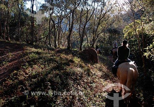 Assunto: Cavalgada de Visconde de Maua (RJ) a Fragaria (MG) em cavalos de raça Campolina, pela Serra da Mantiqueira  / Local:  Entre Rio de Janeiro e Minas Gerais - Brasil  / Data: 05/2009