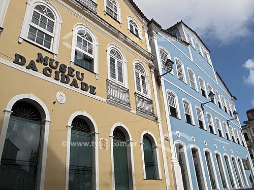 Assunto: Fachada do Museu da Cidade e da Fundação Casa de Jorge Amado  / Local:  Salvador - Bahia (BA) - Brasil  / Data: 07/2009