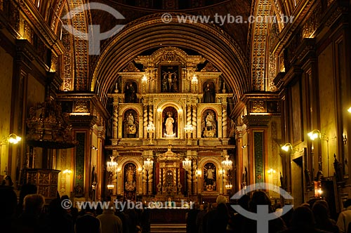 Altar da Iglesia de la Compañía de Jesús (Igreja da Companhía de Jesus) no Bairro Jesuíta de Córdoba, atualmente declarado um Patrimônio da Humanidade pela Unesco   - Argentina