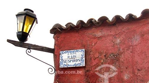 Assunto: Calle de los Suspiros (Rua dos Suspiros), rua tipicamente portuguesa, com casas pertencendo ao primeiro período colonial  / Local:  Bairro Histórico de Colônia do Sacramento - Uruguai - América Latina  / Data: 13/03/2010