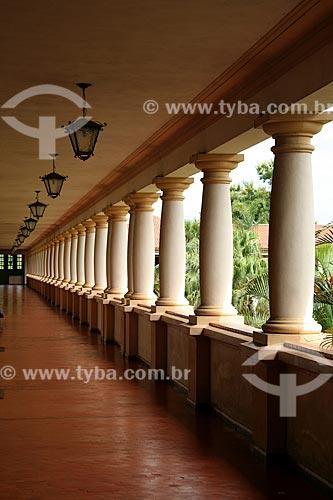 Assunto: Detalhe das colunas da Universidade Federal Rural do Rio de Janeiro (UFRRJ)  / Local: Seropédica - RJ - Brasil  / Data: Novembro de 2009