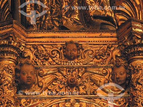 Assunto: Detalhe retábulo de Santo Inácio na Igreja de Nossa Senhora de Bonsucesso  / Local:  Centro - Rio de Janeiro - RJ  / Data: Outubro de 2009