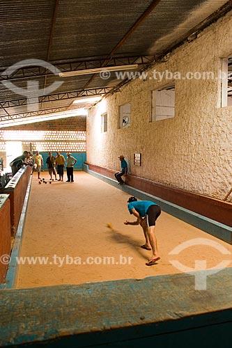 Assunto: Jogo de bocha / Local: Barra Bonita - Santa Catarina - Brasil / Data: 02/2010