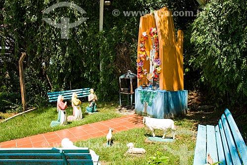 Assunto: Altar de Nossa Senhora de Fátima, na Gruta de Fátima / Local: São José do Cedro - Santa Catarina - Brasil / Data: 02/2010