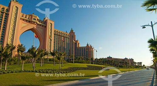 Assunto: Hotel Atlantis na Península artificial - aterro em cima do mar  / Local:  Dubai - Emirados Árabes  / Data: Janeiro de 2009